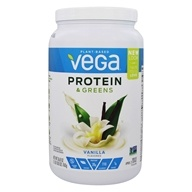 Vega - Protein & Greens Drink Mix Vanilla Flavor - 26.8 oz.
