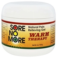 Sore No More - Warm Therapy Natural Pain Relieving Gel Jar - 4 oz.
