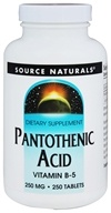 Source Naturals - Pantothenic Acid Vitamin B5 250 mg. - 250 Tablets