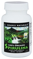 Source Naturals - Spirulina 100% Organic 500 mg. - 100 Tablets