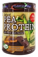 Fusion Diet Systems - Natural Pea Protein With Rice and Hemp Protein Chocolate Peanut Butter - 19.47 oz.