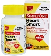 Super Nutrition - Simply One Heart Smart ADK2 Wild Berry with D-Ribose - 60 Chewable Tablets
