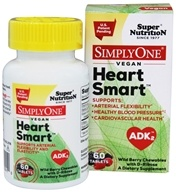 Super Nutrition - Simply One Vegan Heart Smart ADK2 Wild Berry with D-Ribose - 60 Chewable Tablets
