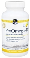 Nordic Naturals Professional - ProOmega-D 650 EPA/450 DHA/1000 D3 Lemon Flavor 1000 mg. - 120 Softgels