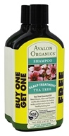 Avalon Organics - Scalp Treatment Shampoo BOGO Tea Tree - 11 oz.