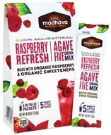 Madhava - All Natural Agave Five Drink Mix Raspberry Refresh - 6 x 0.88 oz. Packets