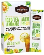 Madhava - All Natural Agave Five Drink Mix - 6 x 0.88 oz. Packets Iced Tea Lemonade