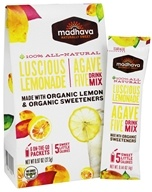 Madhava - All Natural Agave Five Drink Mix Lusicious Lemonade - 6 x 0.88 oz. Packets