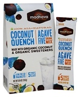 Madhava - All Natural Agave Five Drink Mix - 6 x 0.88 oz. Packets Coconut Quench