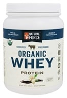 Natural Force - Organic Whey Protein Vanilla Bean - 14.3 oz.