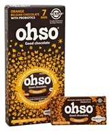 Solgar - Ohso Good Chocolate Probiotic Bars Orange Belgian Chocolate - 7 Bars