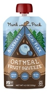 Munk Pack - Ready-to-Eat Oatmeal Fruit Squeeze Pouch Blueberry Acai Flax - 4.2 oz.