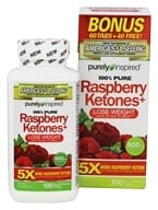Purely Inspired - 100% Pure Raspberry Ketones+ Bonus Size - 100 Tablets