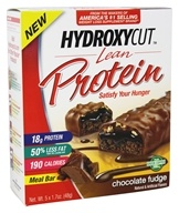 Muscletech Products - Hydroxycut Lean Protein Meal Bars Chocolate Fudge - 5 Bars