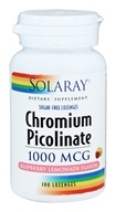 Solaray - Chromium Picolinate Raspberry Lemonade 1000 mcg. - 100 Lozenges