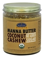 Manna Organics - Manna Butter Coconut Cashew with No Added Sugar - 8.8 oz.