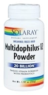 Solaray - Multidophilus 12 Powder Twelve-Strain Formula with Prebiotics 20 Billion CFU - 1.97 oz.