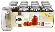 Kerr - Regular Mouth 32 oz. Quart Mason Jars - 12 Count