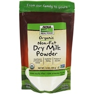 NOW Foods - Now Real Food Organic Non-Fat Dry Milk Powder - 12 oz.