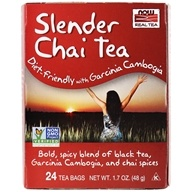 NOW Foods - Now Real Tea Slender Chai Tea - 24 Tea Bags