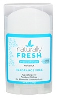 Naturally Fresh - Deodorant Crystal Wide Stick with Aloe Vera Fragrance Free - 3 oz.