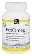 Nordic Naturals Professional - ProOmega in Fish Gelatin 650 EPA/450 DHA Lemon Flavor 1000 mg. - 60 Fish Softgel(s)