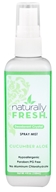 Naturally Fresh - Deodorant Crystal Spray Mist Cucumber Aloe - 4 oz.