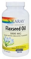 Solaray - Flaxseed Oil 1000 mg. - 240 Softgels