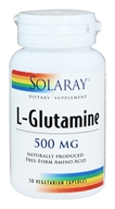 Solaray - L-Glutamine 500 mg. - 50 Vegetarian Capsules