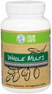 Color Earth - Whole Multi - 60 Vegetarian Tablets