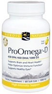 Nordic Naturals Professional - ProOmega-D 650 EPA/450 DHA/1000 D3 Lemon Flavor 1000 mg. - 60 Softgels