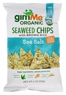 GimMe - Organic Seaweed Chips Sea Salt - 4 oz.