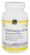 Nordic Naturals Professional - ProOmega-D Xtra 800 EPA/400 DHA/1000 D3 Lemon Flavor 1000 mg. - 60 Softgels