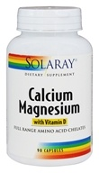 Solaray - Calcium Magnesium with Vitamin D - 90 Capsules