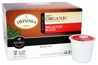 Twinings of London - 100% Organic Breakfast Blend Black Tea - 12 K-Cup(s)