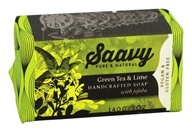 Saavy Naturals - Handcrafted Soap with Jojoba Green Tea & Lime - 5 oz. LUCKY PRICE