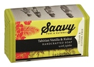 Saavy Naturals - Handcrafted Soap with Jojoba Tahitian Vanilla & Kukui - 5 oz. LUCKY PRICE