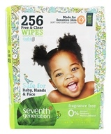 Seventh Generation - Chlorine Free Baby Wipes Refill Pack Unscented - 256 Wipe(s)
