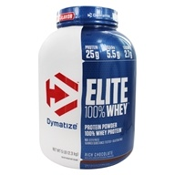 Dymatize Nutrition - Elite 100% Whey Protein Rich Chocolate - 5 lbs.