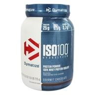 Dymatize Nutrition - ISO 100 100% Hydrolyzed Whey Protein Isolate Gourmet Chocolate - 1.6 lbs.