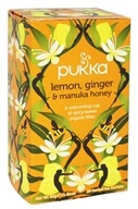 Pukka Herbs - Organic Herbal Tea Lemon, Ginger & Manuka Honey - 20 Tea Bags ...