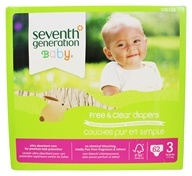 Seventh Generation - Free and Clear Baby Diapers Stage 3 (16-28 lbs.) - 62 Diaper(s)