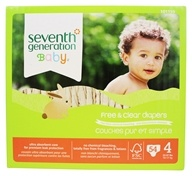 Seventh Generation - Free and Clear Baby Diapers Stage 4 (22-37 lbs.) - 54 Diaper(s)