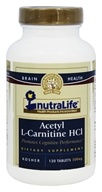 Nutralife - Acetyl L-Carnitine HCI 500 mg. - 120 Tablets