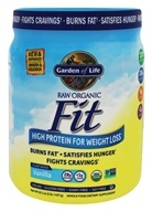 Garden of Life - RAW Organic Fit High Protein for Weight Loss Real Raw Vanilla - 1 lb.