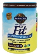 Garden of Life - Raw Fit High Protein for Weight Loss Real Raw Chocolate Cacao - 1 lb.