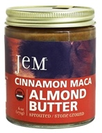 Jem Raw Organic - Organic Sprouted Almond Butter Cinnamon Red Maca - 6 oz.