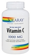 Solaray - Two-Stage Timed Release Vitamin C 1000 mg. - 250 Tablets