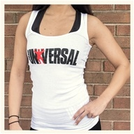 Universal Nutrition - Universal Ladies White Classic Tank - Medium