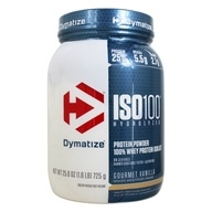 Dymatize Nutrition - ISO 100 100% Hydrolyzed Whey Protein Isolate Gourmet Vanilla - 1.6 lbs.
